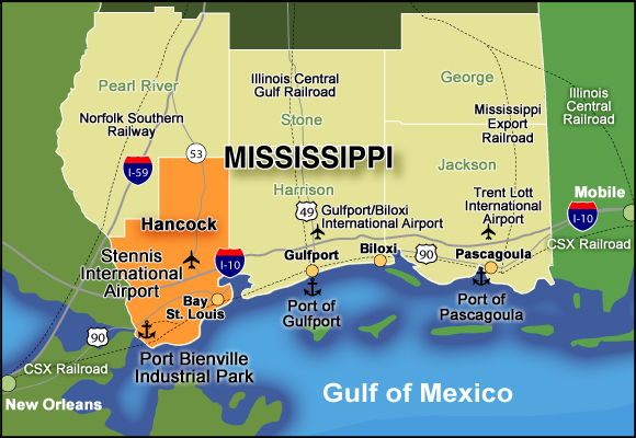 Hancock and Harrison County of Mississippi Gulf Coast